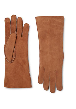 Anderson & Sheppard - Shearling Gloves - Tan