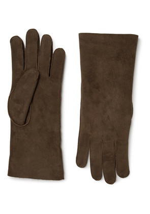 Anderson & Sheppard - Shearling Gloves - Brown