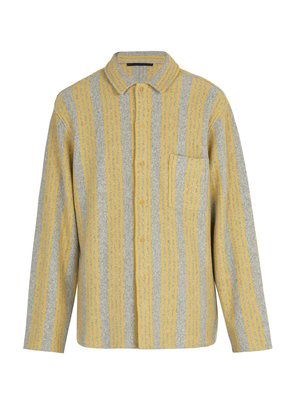Wool and cashmere-blend knitted shirt