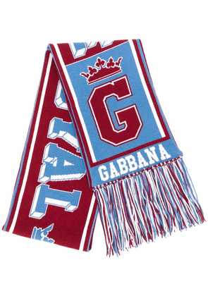 Dolce & Gabbana graphic knitted scarf - Red