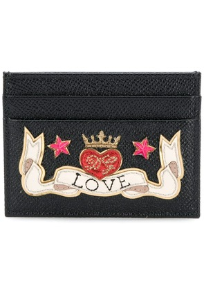 Dolce & Gabbana Love patch card case - Black
