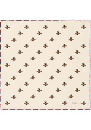 Gucci Bees print silk pocket square - Nude & Neutrals
