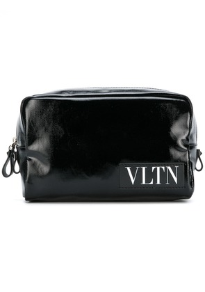 Valentino Valentino Garavani VLTN logo patch wash bag - Black