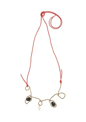 Marni twisted wire necklace - Black