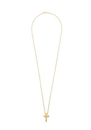 Kasun London stick cross pendant necklace - Metallic