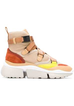 Chloé Sonnie high-top sneakers - Nude & Neutrals