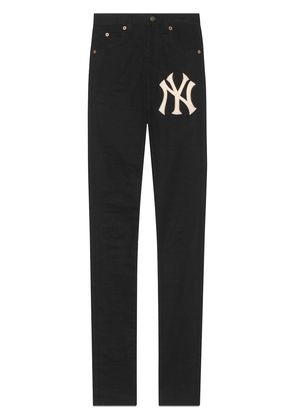 Gucci Denim skinny pants with NY Yankees™ patch - Black