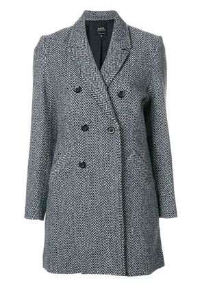 A.P.C. Joan double-breasted coat - Blue