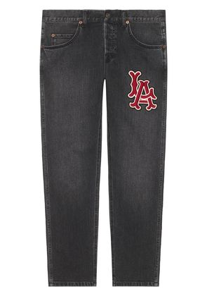 Gucci Denim pant with LA Angels™ patch - Black
