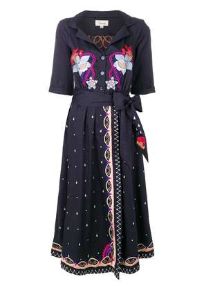 Temperley London Divine wrap dress - Blue
