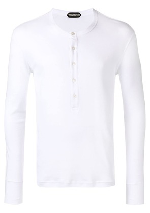 Tom Ford front button T-shirt - White