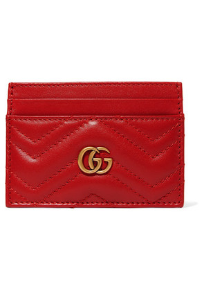 Gucci - Gg Marmont Quilted Leather Cardholder - Red