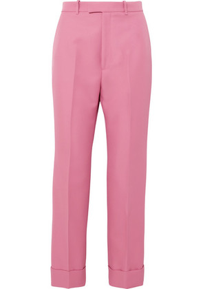 Gucci - Twill Straight-leg Pants - Pink