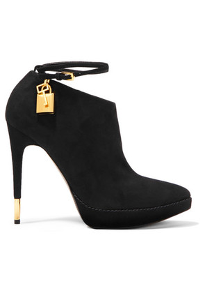 TOM FORD - Suede Ankle Boots - Black
