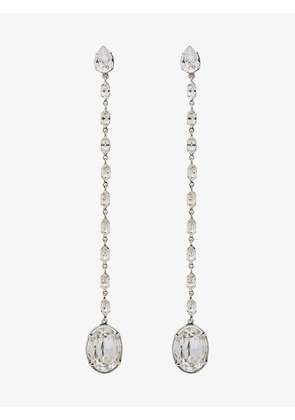 Saint Laurent Smoking crystal chain earrings