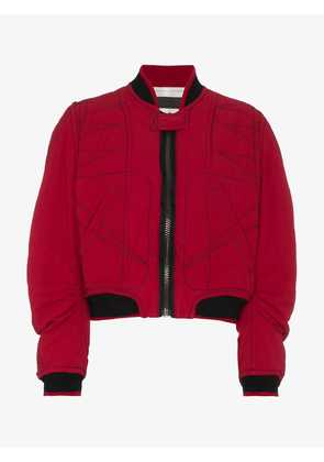 Haider Ackermann quilted cotton bomber jacket
