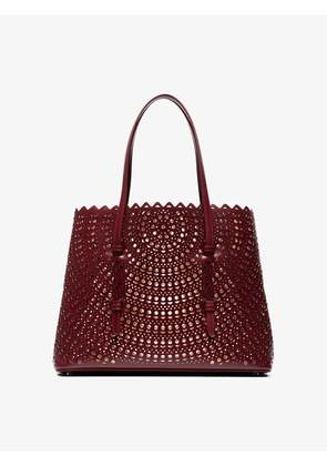 Alaïa Red Vienne medium laser cut leather tote