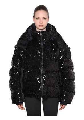 REVERSIBLE SEQUINED DOWN JACKET