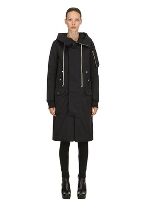 DRKSHDW HOODED BOMBER COAT