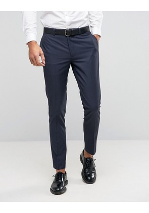 ASOS Skinny Suit Trousers with Tonal Design - Blue