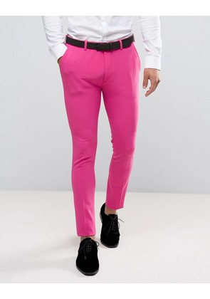 ASOS Super Skinny Prom Suit Trousers in Pink - Pink