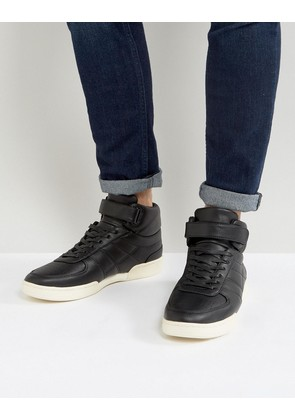 ASOS High Top Trainers In Black With Split Sole - Black