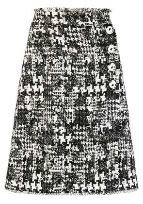 Dolce & Gabbana panda button A-line skirt - Black