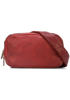 Guidi zipped shoulder bag - Red