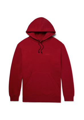 Oversized Embroidered Loopback Cotton-jersey Hoodie
