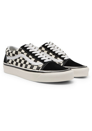 Anaheim Factory Old Skool 36 Dx Leather-trimmed Canvas And Suede Sneakers