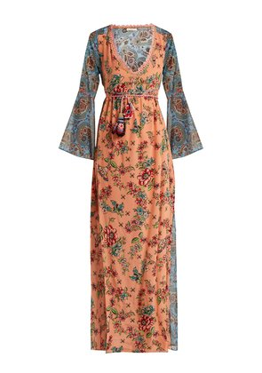 Severa floral print v neck maxi dress