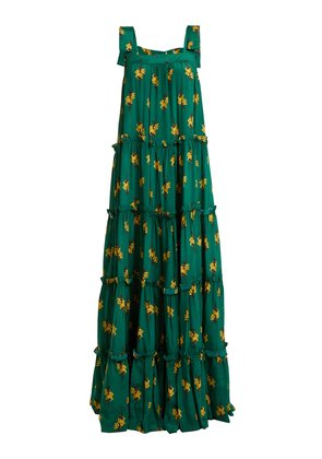 Josephine Baker floral-print silk dress