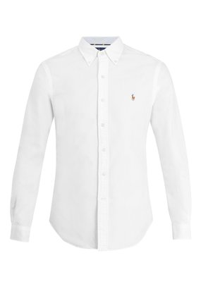 Logo-embroidered cotton-oxford shirt