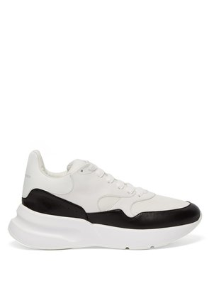 Runner leather trainers