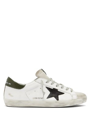 Superstar distressed leather trainers