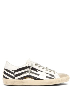 Super Star zigzag leather trainers