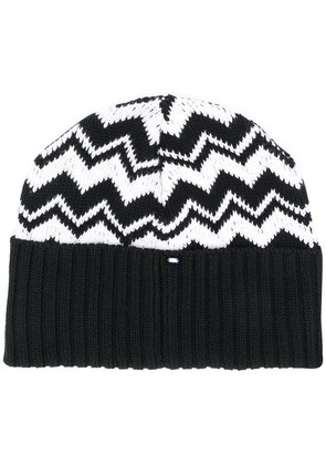 Sport Max Code contrast beanie hat - Black