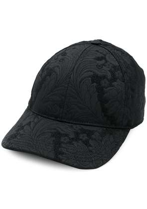 Dolce & Gabbana floral embroidered cap - Black