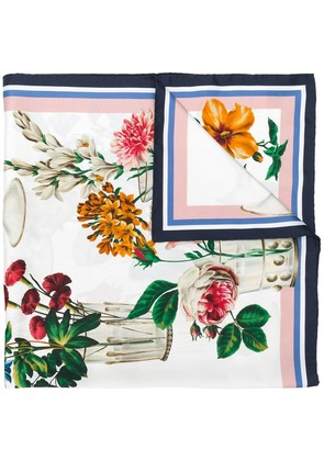 Dolce & Gabbana square floral printed scarf - White