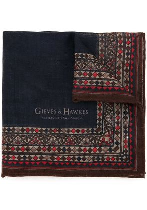 Gieves & Hawkes printed scarf - Multicolour