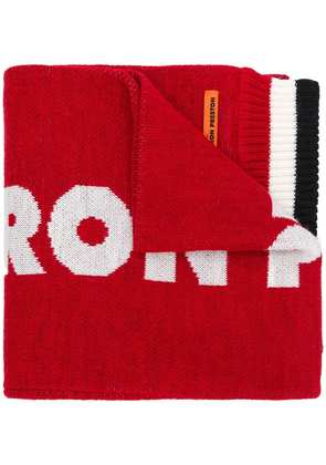 Heron Preston Dragons knitted scarf - Red
