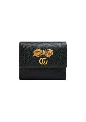 Gucci Leather wallet with bow - Black