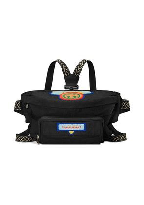 Gucci Belt bag with Gucci '80s patch - Black