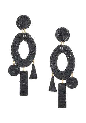 Mercedes Salazar Tropic earrings - Black