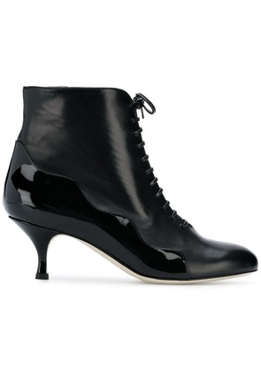 Francesca Bellavita lace-up ankle boots - Black