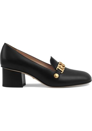 Gucci Sylvie leather mid-heel pumps - Black