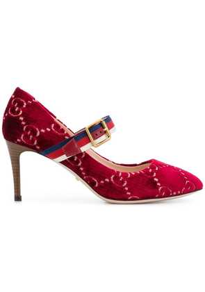 Gucci grosgrain strap pump - Red