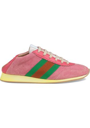 Gucci Suede sneakers with Web - Pink & Purple