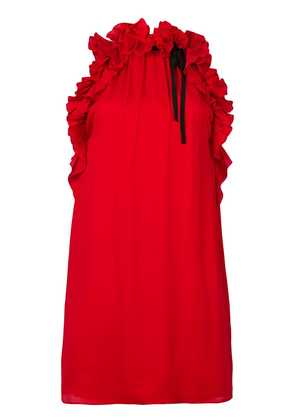 Gucci ruffled detail dress - Red