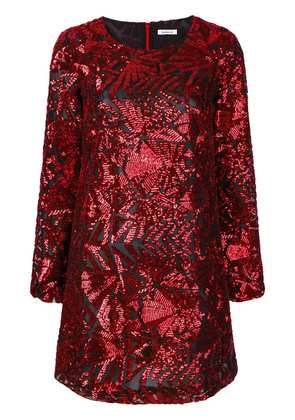 P.A.R.O.S.H. sequin shift dress - Red